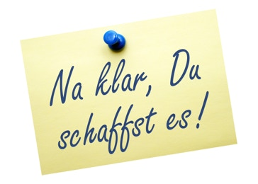 Na klar, Du schaffst es! (Post it)